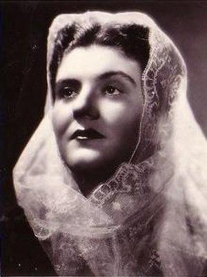 Maria Caniglia - Maria Caniglia as Amelia in Un ballo in maschera.