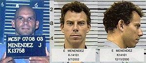 Lyle and Erik Menendez - Mug shots of Lyle (left) and Erik Menéndez (right)