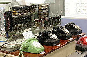 Victorian Telecommunications Museum - Mini telephone exchange