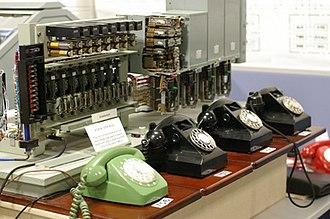 Victorian Telecommunications Museum - Mini telephone exchange
