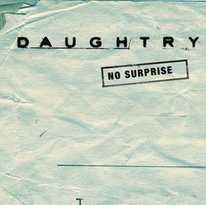 No Surprise (Daughtry song) - Image: No surprise daughtry cover