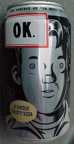 OK Soda - One of the OK Soda can designs; illustrated by Charles Burns