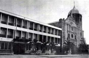 Elpidio Quirino Avenue - The old façade of the St. Andrew's Cathedral and Saint Andrew's School on Calle Real