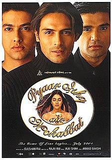 <i>Pyaar Ishq Aur Mohabbat</i> 2001 film by Rajiv Rai