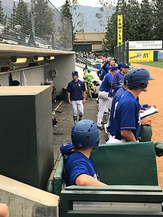 Rancho Cucamonga Quakes - The 2018 Quakes in their dugout at LoneMart Field