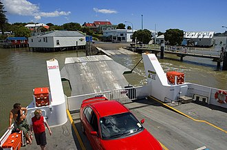 Hokianga - The car ferry at Rawene
