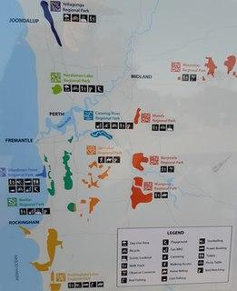 Regional parks in Western Australia