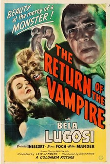 <i>The Return of the Vampire</i> 1944 film directed by Lew Landers