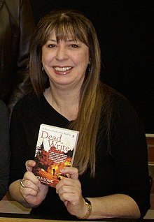 Novelist Sheila Lowe on January 30, 2010 at a book signing in Los Angeles, California.