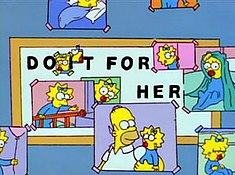 """Do it for her"" from the Simpsons"