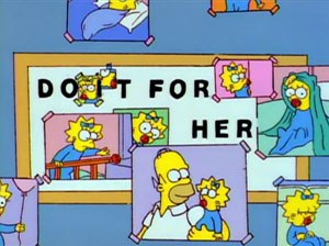 And Maggie Makes Three - Image: Simpsons 6x 13