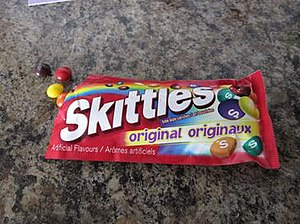 Skittles (confectionery) - Bilingual (English/French) Canadian packet of Skittles