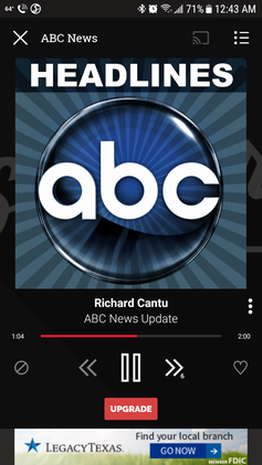 Slacker ABC News Radio Screenshot