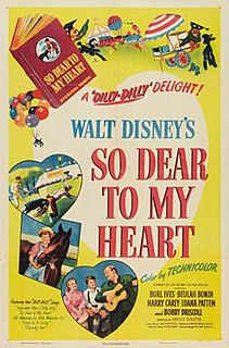<i>So Dear to My Heart</i> 1948 US partly-animated Disney film directed by Hamilton Luske and Harold D. Schuster