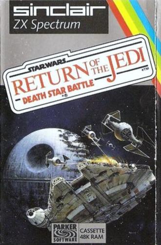 Return of the Jedi: Death Star Battle - ZX Spectrum cover art by John Berkey