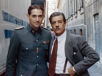 Giancarlo Giannini - Giancarlo Giannini (r) on the set of Celluloide (1996)