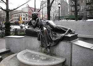 Audrey Munson - Isidor and Ida Straus Memorial (1913) by Augustus Lukeman