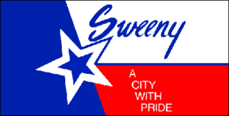 Sweeny, Texas - Image: Sweeny Flag