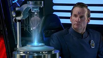 Arnold Rimmer - Rimmer learns of his true parentage from Lecturer Rimmer's recorded message.