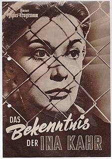 <i>The Confession of Ina Kahr</i> 1954 film