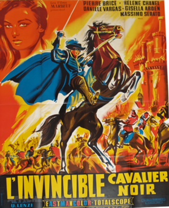 The Invincible Masked Rider - French-language poster