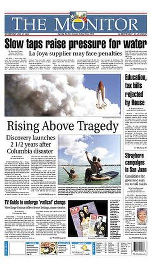 The Monitor (Texas) - Image: The Monitor (Texas) front page