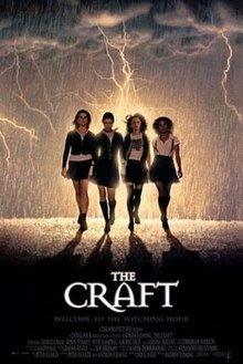 four young student girls walking in the rain towards the viewer with the film's title ,credits and release date below them.