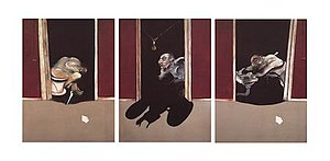 Triptych, May–June 1973 - Oil on canvas, 198 × 147 cm. Collection of Esther Grether