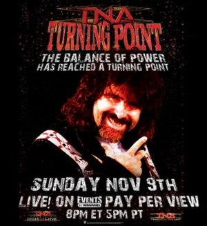 Turning Point (2008 wrestling) - Promotional poster featuring Mick Foley