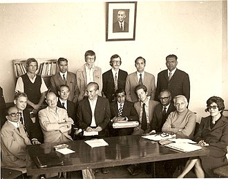 H. S. S. Lawrence - Dr.H.S.S. Lawrence as Chairman UNESCO Staff Association, Afghanistan (Standing first from right)