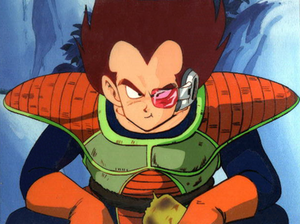 Vegeta - Vegeta's first few appearances in the anime depicted him with a radically different color scheme.