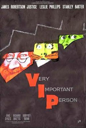 Very Important Person (film) - Original British cinema poster