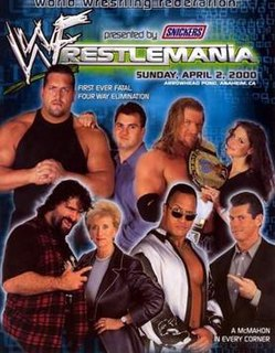 WrestleMania 2000 2000 World Wrestling Federation pay-per-view event