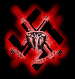 White Aryan Resistance - Image: White Aryan Resistance Hate Logo