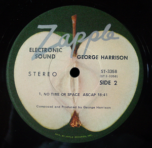Apple Records - The Zapple label of George Harrison's Electronic Sound LP (US issue)