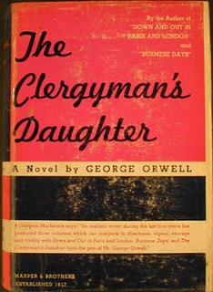<i>A Clergymans Daughter</i> novel by George Orwell