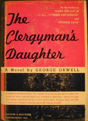 A Clergyman's Daughter - First US edition cover, the novel published in America with a slight change of title as The Clergyman's Daughter