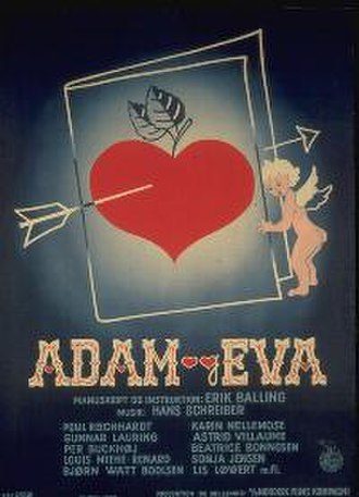 Adam and Eve (1953 film) - Theatrical release poster by Kai Rasch