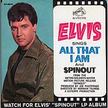 "One of sides for U.S. vinyl single, saying ""Elvis Sings 'All That I Am' and 'Spinout'"""