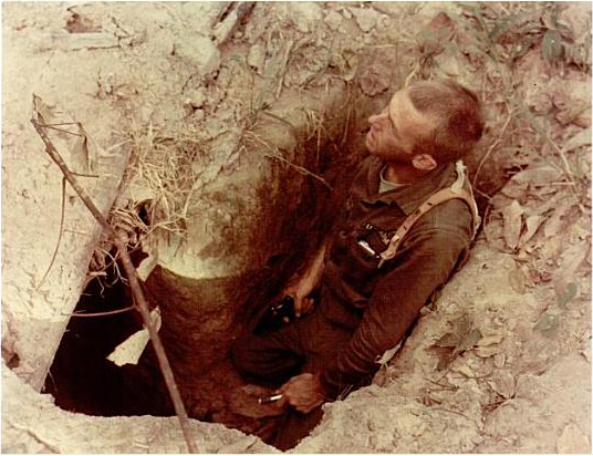 American tunnel rat during Operation Crimp, January 1966