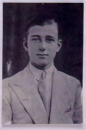 Anthony Walter Dayrell Brooke - The Rajah Muda of Sarawak whilst at Eton.