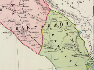 Invasion of Kuwait - The Basra ''Vilayet'' of the Ottoman Empire in 1897. After the Anglo-Ottoman Convention of 1913, Kuwait was established as an autonomous kaza, or district, of the Ottoman Empire and a de facto protectorate of Great Britain.