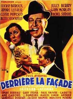 <i>Behind the Facade</i> 1939 French film directed by Georges Lacombe and Yves Mirande