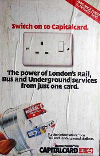 Travelcard - Poster advertising the January 1985 launch of the Capitalcard ticket
