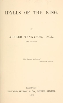 Cover of First Edition publication of Idylls of the King, circa 1859.png