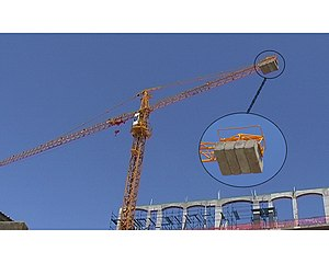 Counterweight - Concrete counterweights on a tower crane