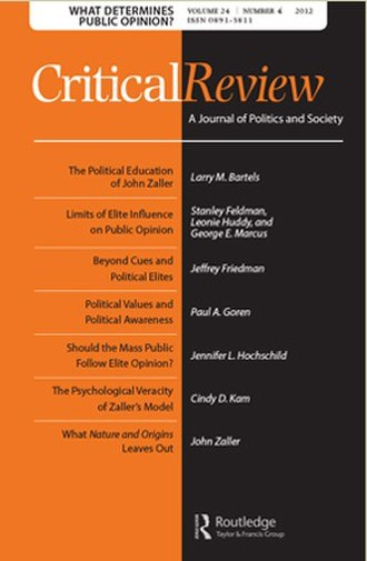 Critical Review (journal) - Image: Critical Review journal cover
