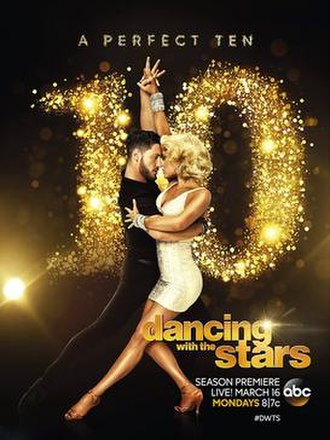 Dancing with the Stars (U.S. season 20) - Promotional poster, featuring pro dancers Peta Murgatroyd and Valentin Chmerkovskiy