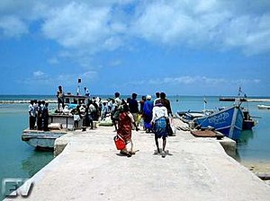 Kumudini boat massacre - jetty from which ferry boats known as Launches are launched to neighboring islands in the North of Sri Lanka. The Jetty is renamed Kumuthini jetty in memory of the victims of the massacre