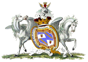 Duke of Queensberry - Arms of the 1st, 2nd and 3rd Dukes of Queensberry.